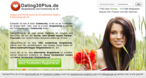 Online Dating bei Dating30Plus.de