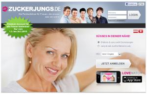 Partnersuche bei Zuckerjungs.de