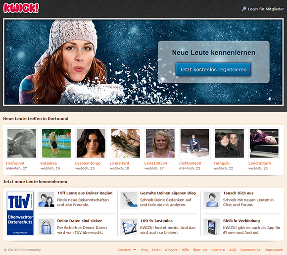 Online Dating kostenlos bei kwick.de